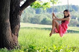 girl in swing