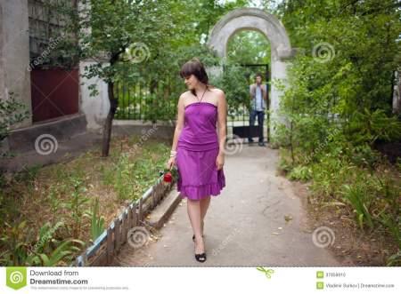 girl leaving